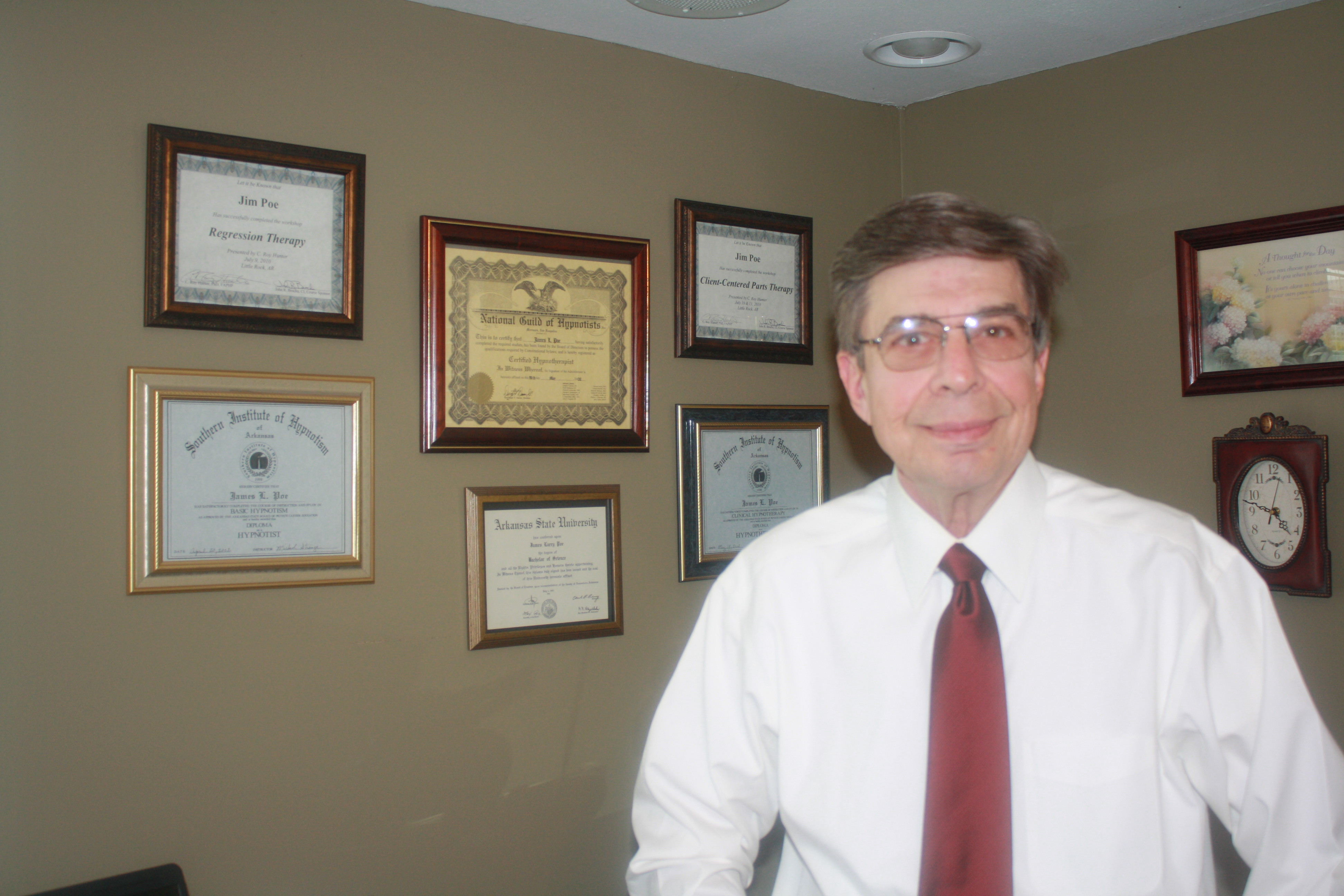 Jim Poe Hypnotherapy - Call me at 870-935-5763